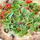 Pizza Topped with Kettle-Fried Whitebait, Shiso  釜揚げしらすと大葉のガーリックオイルピッツァ