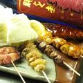 料理メニュー写真【人気No.5】串焼き盛り合わせ(つくね・ネギ間・とり皮・砂ずり・アスパラ)