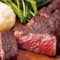 【上野店のこだわり】シェフ自慢火入れで提供する肉料理