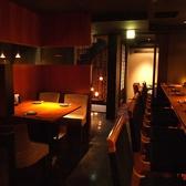 地下の空間は、BARのような雰囲気です。洗練された雰囲気は接待や会社宴会、記念日など各種宴会におすすめです♪4名様~ご利用いただける完全個室のご用意もございます。