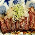 料理メニュー写真牛イチボ おろし醤油