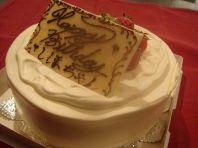 ケーキとBGMでサプライズ