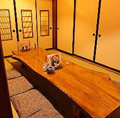 8名様で利用できる個室(座敷)もご用意しております。ふすまで仕切られているので完全なプライベート空間です。