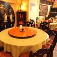 中華といえば円卓です!友人や会社の同僚と円卓を囲んでお食事を楽しめば、自然と会話があふれだします。