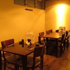 テーブル席は2人~12名様までご利用頂けますので少人数宴会にぴったりです♪