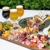 お肉とビールを贅沢にテラスで愉しむことも可能です。
