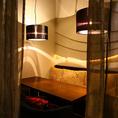 スタイリッシュな個室は全13室