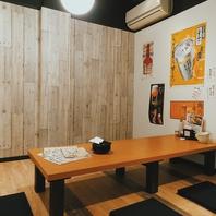 完全個室のプライベート空間で仲間と楽しむ!