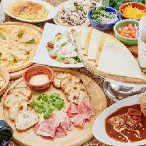 食事も満足!【オリエンタルコース】 ゆったり3時間+お料理8品 2741円(税抜)