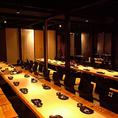 堀ごたつ席の広々とした宴会個室は最大50名様まで対応可能です!お気軽にお問い合わせください。