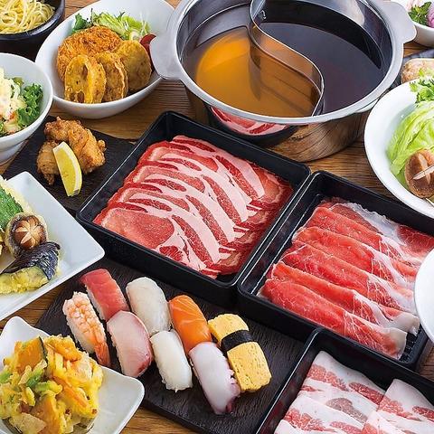『厳選牛◆しゃぶしゃぶ100分食べ放題コース』 2980円(税抜)