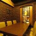 女子会や少人数での宴会でご利用頂けるテーブル席。友人との楽しい食事会や気軽な飲み会などで是非ご利用ください。