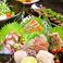地物鮮魚にこだわり、その季節ならではの魚介をご用意。脂ものって「焼き」でも「刺身」でも美味しく食べられます◎その日の仕入れにもよるので、まさに一期一会!そんな兵庫の鮮魚をぜひ、盛り合わせでご堪能下さい♪