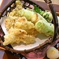 料理メニュー写真大山どりと弓浜ネギの天婦羅