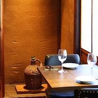 京町屋ならではの落ち着いた雰囲気で楽しめるテーブル席