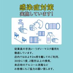 入口・お手洗い・キッチン等、各箇所にスタッフ+お客様用アルコール設置