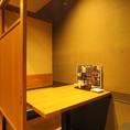 2名用の個室は当店の一押しのお席です◎