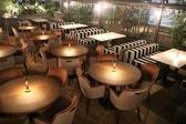 ルーフトップのテラス席は開放感抜群。街明かりを受けながらきらめく非日常空間です。