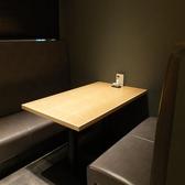 個室風のボックス席です。接待・小中宴会に