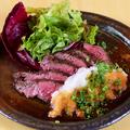 料理メニュー写真大人気!牛ハラミの特製ステーキ