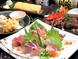鮮度抜群の刺身から天ぷら、だしまき等一品料理は様々。