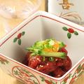 料理メニュー写真桜肉のピリ辛ユッケ