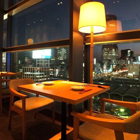 <ヒカリエ7F>渋谷を一望できる!夜景がきれいなウィンドーシートが人気のモダン和食店