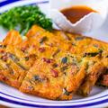 料理メニュー写真自家製韓国風チヂミ