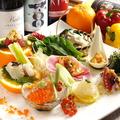 料理メニュー写真〈旬菜旬魚のカルパッチョ〉カルパッチョ四種盛り