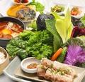 料理メニュー写真サンパ(包み野菜ご飯)セット【スンドゥブチゲ・3種ジョン付き】