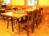 6名様用のテーブル席。他2名様用、4名様用もございます。