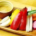 料理メニュー写真野菜スティック 味噌バーニャカウダディップ