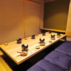 仕事帰りの飲み会・お食事にはボックス席がお勧め。6名・8名席あり。