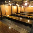 30~40名様に最適な掘りごたつの個室です♪会社宴会、学生宴会、プライベート等団体様に大人気のお席になっております!
