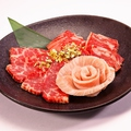 料理メニュー写真春のお祝い3種盛り