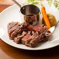 料理メニュー写真和牛肩ロースのステーキ 和風ソース