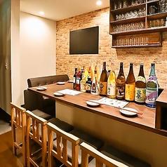 デートやお一人様でもお楽しみ頂けるカウンター席です!武蔵小杉の隠れ家一軒家ならではの雰囲気をお楽しみください!