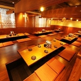 【貸切宴会は45名様~80名様】ゆったり広々している店内は大人数のご宴会におすすめです!沖縄旅行気分をお楽しみください♪