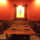 4名様用のテーブル席。少人数飲み会や接待に◎
