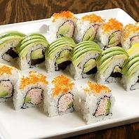 寿司職人が造る本格寿司と創作スシロールが楽しめる店