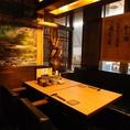 ゆったりとお食事をお楽しみいただける個室空間。