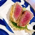料理メニュー写真黒毛和牛赤身肉のレア天