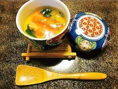 料理メニュー写真蟹茶碗蒸し/白魚茶碗蒸し