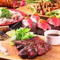 【贅沢堪能★】GABU2自慢の絶品肉を食べ尽くす!!《肉バルコース》2.5h飲放付全8品⇒5000円!!肉にとことんこだわる肉バルGABU2自慢の絶品肉料理を味わい尽くすならこのコース★人気の肉寿司はもちろん和牛!!他とは一味違います★メインの『熟成48時間牛リブロースグリル』は誰もが頷く美味さです★