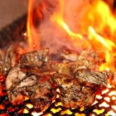 【宮崎産の地鶏の炭火焼き】