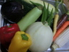 シェフ直々現地仕入の有機野菜達!