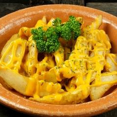 料理メニュー写真チーズ掛けフライドポテト