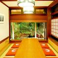 【お座敷個室】最大で8名様までご利用可能です。 大切な方との食事に個室をご利用くださいませ。