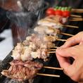 【焼き串のこだわり】お客様を想い、大切に一本一本心を込めて焼き上げます!!!鳥吉伝統のたれを始め、塩・にんにくだれで召し上がってください。