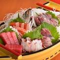 贅沢に★単品での舟盛り、宴会コースでの舟盛りご用意できます♪